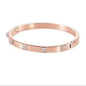 Swarovski Jewelry - Swarovski rose gold tactic bangle bracelet